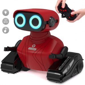 GILOBABY RC Robot Car, Remote Control Robot with Shine Eyes, Dance Moves, Christmas Gift for kids Boys Girls