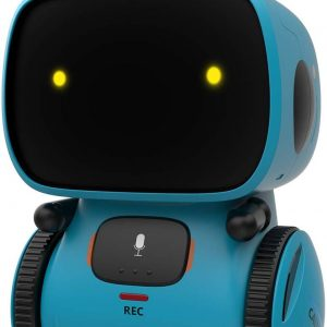 GILOBABY Robot Toys, STEM Toys Talking Interactive Voice Controlled Touch Sensor Smart Robotics with Singing, Dancing, Repeating, Speech Recognition and Voice Recording, Gift for Kids