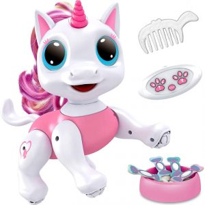 Power Your Fun Robo Pets Unicorn Toy Robot Pet – Remote Control Robot Toy, Smart RC Robot Unicorn Gifts for Girls