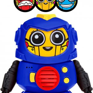 Power Your Fun Tok Tok Voice Changer Robot Toys – Mini Talking Robots for Kids with 3 Robot Voices and LED Faces for Ages 3 and Up, Blue