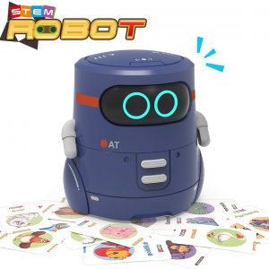 REMOKING STEM Educational Robot Toy,Dance,Sing, Guess Card Game, Speak Like You, Touch Sensing,Recorder,Interactive Kids Learning