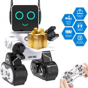 Remote Interactive Control Robots Toy,GMSUNNY Educational Stem Toys Robotics for Kids Sing,Dancing,Built-in Piggy Bank,Touch Control, Recorder,Rechargeable RC Robot Kit Gift for Boys and Girls