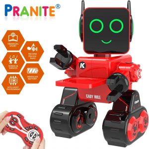 Robot Toy, Remote Control Robot Toy for Kids, Intelligent Programming RC Robot, Suitable for Kids Aged 3 and over to Sing, Dance, Talk, Transfer Items and Play with Kids as a Gift