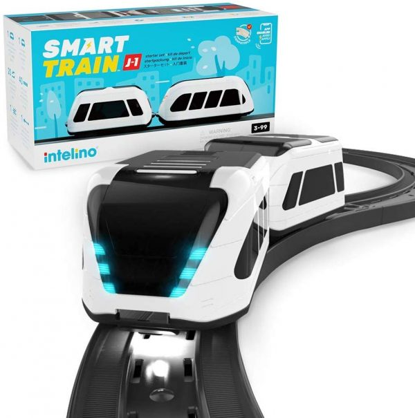 intelino J-1 Smart Train Starter Set - Screen-Free and App-Connected Play Modes - STEM Coding Toy