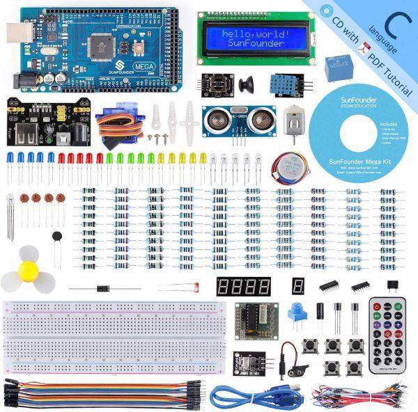 SunFounder Mega 2560 R3 Project Super Starter Kit with Mega 2560 Board Compatible with Arduino Mega 2560 R3 Mega328