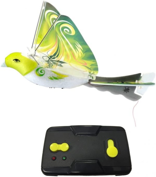 MukikiM eBird Green Parrot - 2016 Creative Child Preferred Choice Award Winning Flying RC Toy - Remote Control Bionic Bird (Newest 2.4GHz Version
