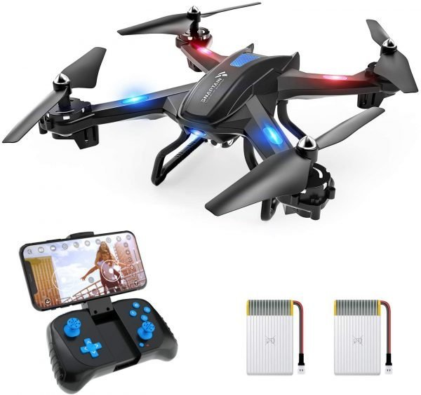 SNAPTAIN S5C WiFi FPV Drone with 720P HD Camera,Voice Control, Wide-Angle Live Video RC Quadcopter with Altitude Hold, Gravity Sensor Function, RTF One Key Take Off/Landing