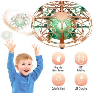 Tesoky Drones for Kids,Upgraed Mini Drones Durable and Rechargeable ,Best Indoor Toy for Boys Girls age3-12, Gifts for 3 4 5 6 7 8 9 10 11 12 Years Old Boys Girls Kids-Gold