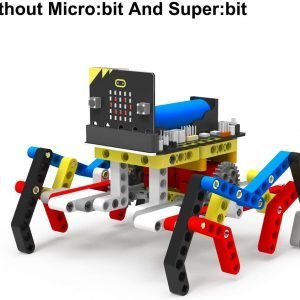 Yahboom Micro:bit Robot Building Set, Spider Building Blocks 142 Pieces Set with 2 Motor Based on Microbit BBC, STEM Educational Coding Learning Toy Kit for Kids