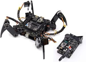 Freenove Quadruped Robot Kit with Remote (Compatible with Arduino IDE Raspberry Pi OS), App Remote Control, Walking Crawling Twisting Servo STEM Project