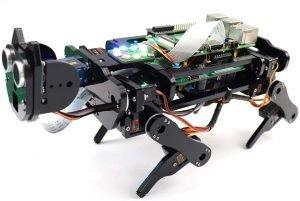 Freenove Robot Dog Kit for Raspberry Pi 4 B 3 B+ B A+, Walking, Self Balancing, Ball Tracing, Face Recognition