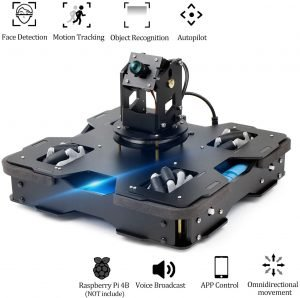 Yahboom Raspberry Pi 4B AI Robot Kit 3-DOF Camera with Mecanum Wheel Omnidirectional Kit for Teens and Adults, Visual Autopilot, Object Recognition Tracking, Voice Broadcast