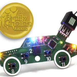 Code Car Circuit Toy for Kids Aged 8,9,10,11,12 to Learn Typed Coding Through Hands-On Electronics and 14 Online Projects