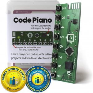 Code Piano S.T.E.A.M. Toy for Kids 8,9,10,11,12 to Learn Real Coding and Technology Skills – Includes Access to 14 Online Projects and Songs That Teach Typed Programming