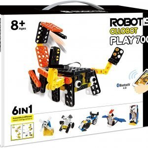 ROBOTIS INC Robot Builder for Kids Play 700 6-in-1 Build Your Own with Remote Control, STEM Education KIDSLAB, Programmable Toys for Ages 8 and Up